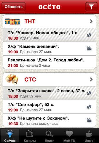 Интерфейс ВсеТВ