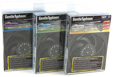 Вентиляторы Scythe Gentle Typhoon