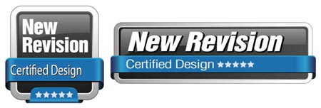 Метка New Revision Certified Design двух видов