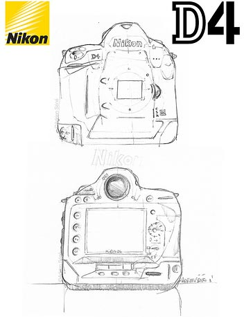 Так будет выглядеть Nikon D4 по мнению Adrien Séné