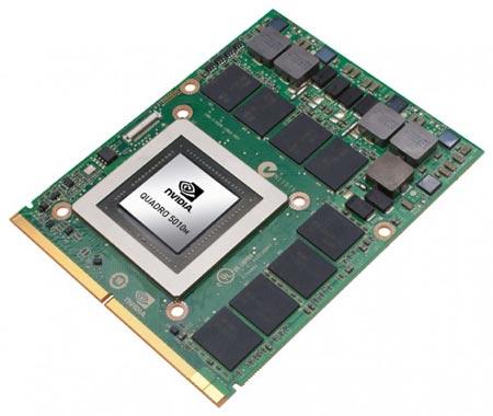 Наиболее производительная модель Quadro 5010M