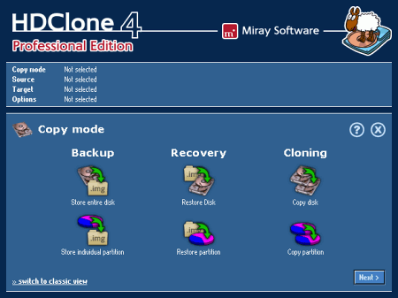 �������� �������� ���� HDClone Free Edition