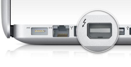 Разъем Thunderbolt у новых MacBook Pro