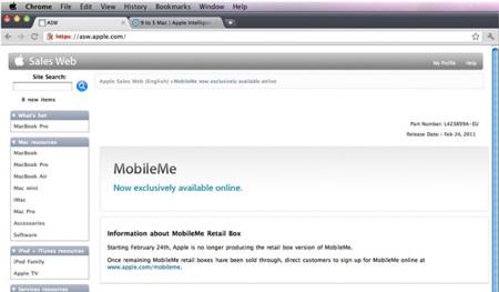 MobileMe �������� ������ ��� ������ ������.