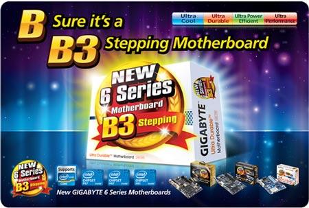 Платы GIGABYTE на чипсете Intel степпинга B3 можно узнать по логотипу, оформлению коробки и маркировке