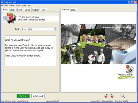 Скриншот программы VueScan