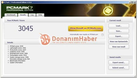 процессор AMD FX-8130P в тесте PCMark7