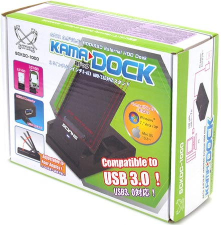 Док Scythe Kama Dock Hard Drive Docking Station с интерфейсом USB 3.0