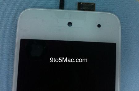 Снимки фронтальной панели iPod touch белого цвета