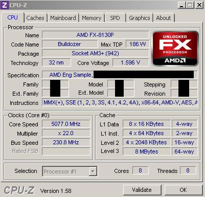 Вполне вероятно, что подвергнувшийся разгону AMD FX-8130P был уже на новом степпинге — B2