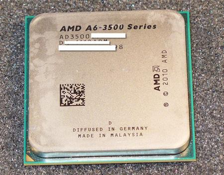 APU A6-3500 оснащен тремя ядрами и 3 МБ кэш-памяти