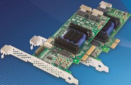 PMC первой выпускает контроллеры SATA/SAS 6 Гбит/с начального уровня с аппаратной поддержкой RAID и кэш-памятью