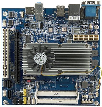 VIA EPIA-M900 — первая в мире системная плата типоразмера Mini ITX со встроенным двухъядерным процессором Nano X2