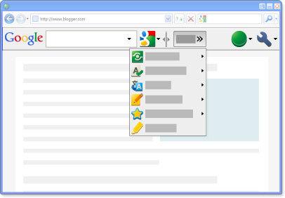 Веб-браузер с установленным Google Toolbar