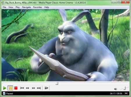Интерфейс Media Player Classic - Home Cinema