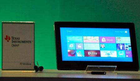 Microsoft показала работу ОС Windows 8