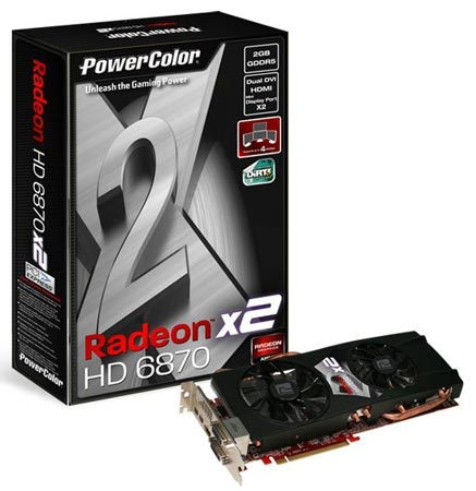 3D-карта PowerColor Radeon HD 6870 X2