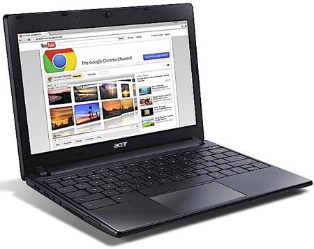 Начались продажи «хромбука» Acer AC700
