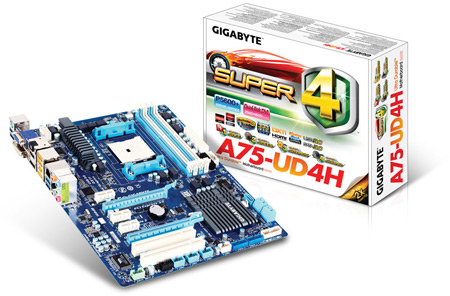 Системные платы GIGABYTE серии A75 поддерживают APU AMD A8 и A6