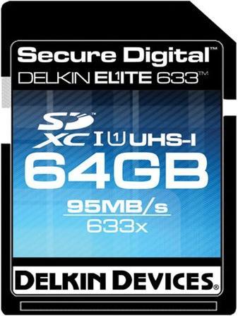 Delkin называет карту памяти Elite633 объемом 64 ГБ самой быстрой в мире картой SDXC