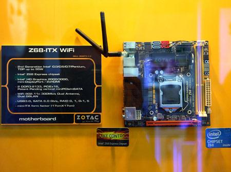 платы типоразмера Mini ITX на чипсете Intel Z68