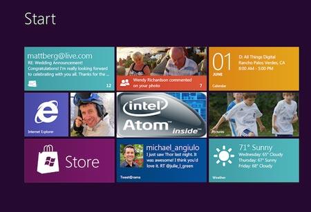 экран Windows 8