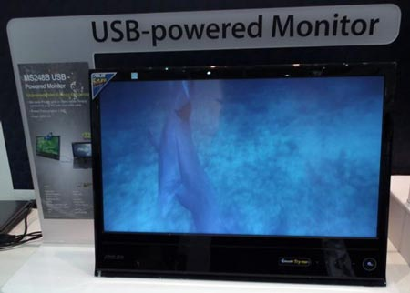 24-дюймовый монитор ASUS MS248B питается от порта USB
