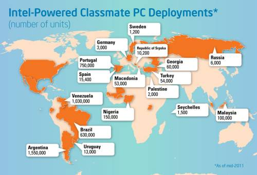 Из 4 млн на долю России выпали 6 тыс. нетбуков Classmate PC
