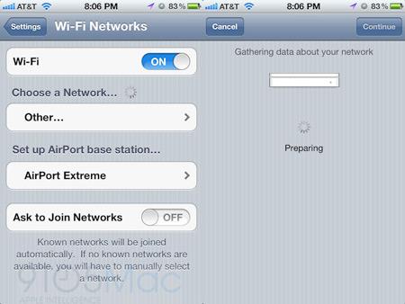 В iOS 5 появится утилита для управления AirPort и Time Capsule