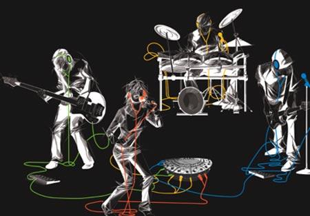 Устройство JamHub предназначено для бесшумных репетиций с использованием электромузыкальных инструментов