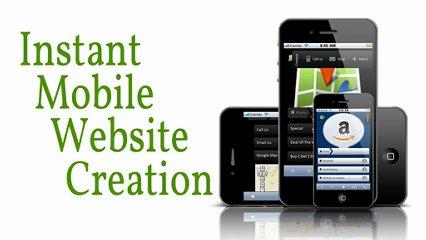 Instant Mobile Website Creation