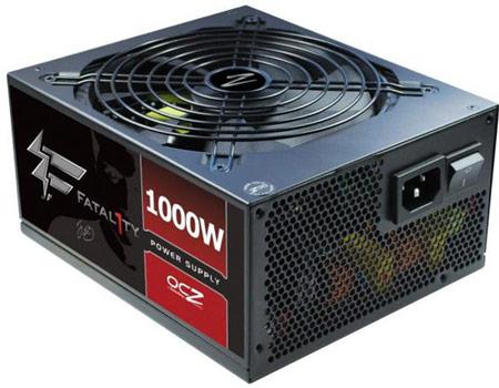 OCZ готовит к выпуску блок питания серии Fatal1ty мощностью 1 кВт