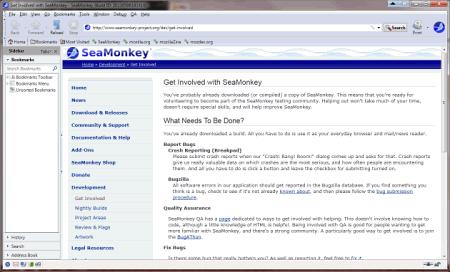 Интерфейс SeaMonkey