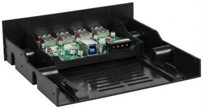 Интерфейсная панель Sharkoon c 4 портами USB 3.0