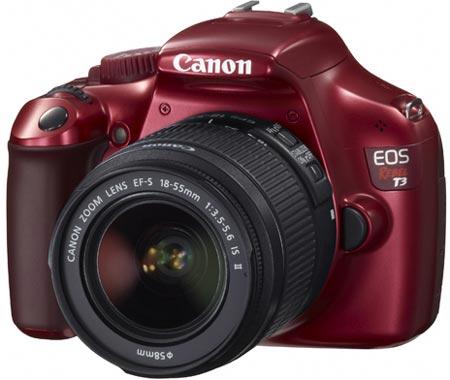 красная камера EOS 1100D