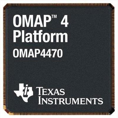 Процессор TI OMAP4470 получил два ядра Cortex-A9, два - Cortex-M3 и одно - PowerVR SGX544