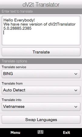dV2t Translator
