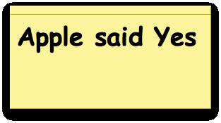 Apple говорит «да»