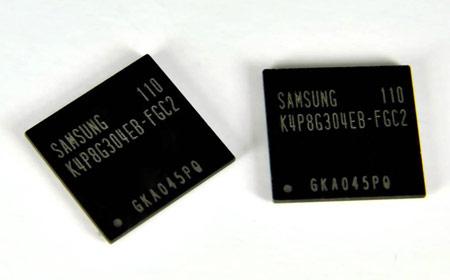 В этих микросехмах Samsung используются чипы LPDDR2 DRAM плотностью 4 Гбит