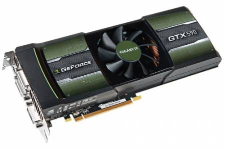 Видеокарта GeForce GTX 590 в исполнении GIGABYTE