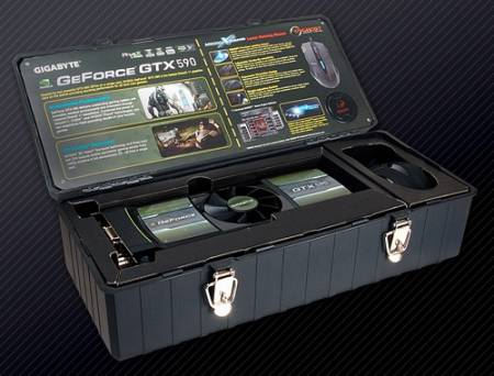 Видеокарта GeForce GTX 590 в исполнении GIGABYTE