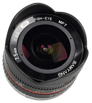 Samyang 7.5mm 1:3.5 UMC Fisheye MFT