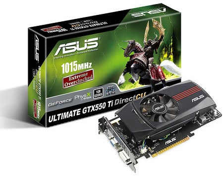 3D-карта ASUS UL ENGTX550 Ti DC/DI/1GD5
