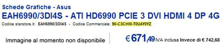 Цена AMD Radeon HD 6990 в итальянском интернет-магазине