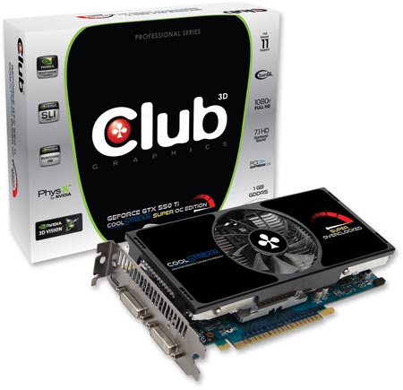 Club 3D GeForce GTX 550Ti CoolStream Super OC Edition