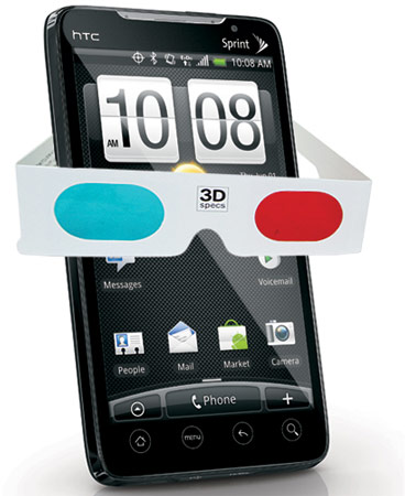 На CTIA будет анонсирован смартфон HTC EVO 3D и планшет HTC EVO View 4G