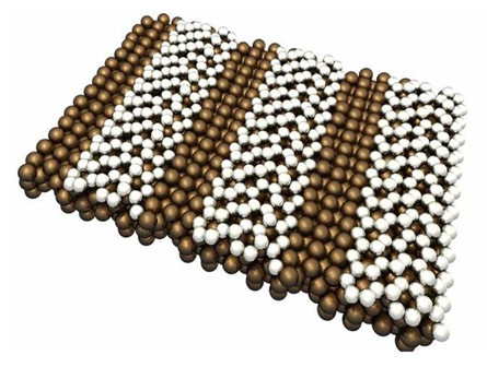 Схематическое изображение силицена