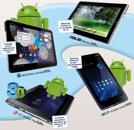 Испанский интернет-магазин Phone House рассказал о стоимости планшетов Acer, ASUS, LG и Motorola в Европе
