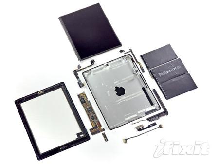Разобранный iPad 2