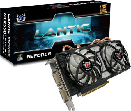 3D-карта Lantic GTX550 Ti 1GB GDDR5
